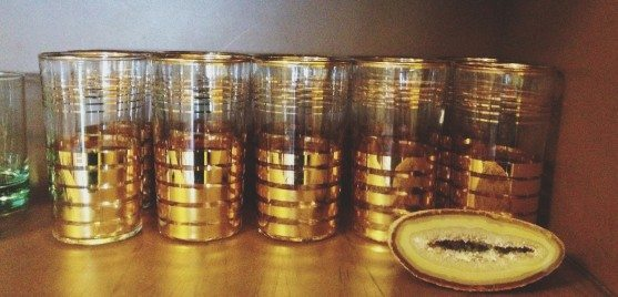 gold-stripe-vintage-glassware