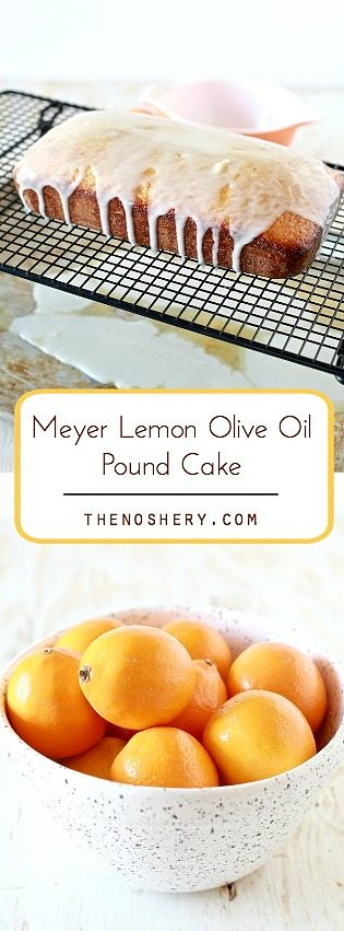 Meyer Lemon Olive Oil Pound Cake | TheNoshery.com - @TheNoshery