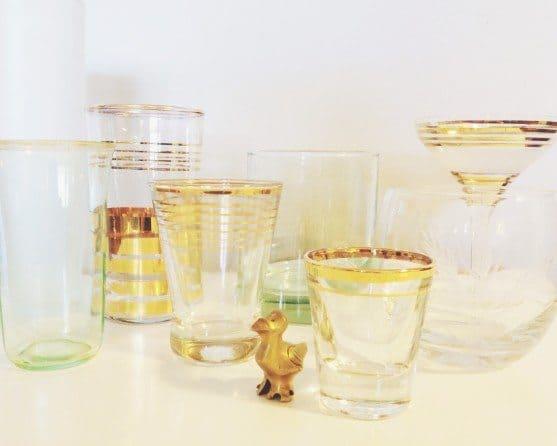 vintage-glassware-set