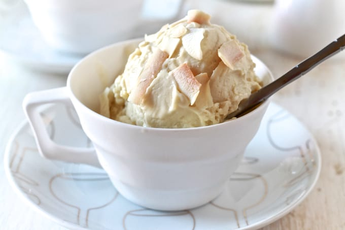 Coconut & Green Tea Ice Cream