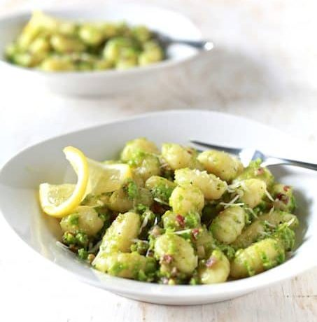 Sweet Peas Pesto & Pancetta Gnocchi