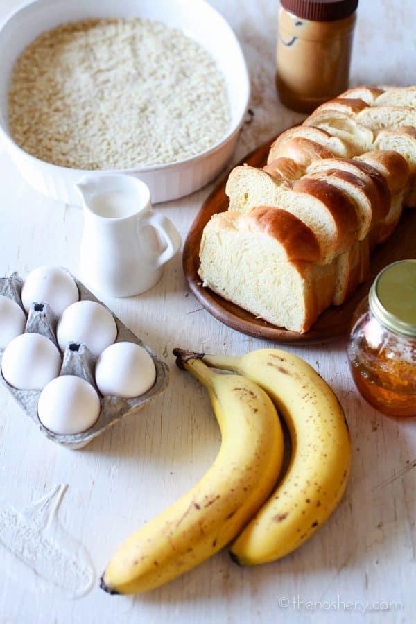Peanut Butter, Honey & Banana Stuffed Almond Crusted French Toast | TheNoshery.com