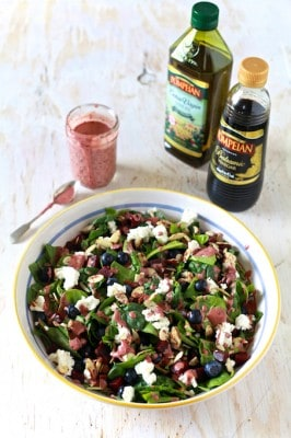 Super Salad with Aged Balsamic and Blueberry Vinaigrette