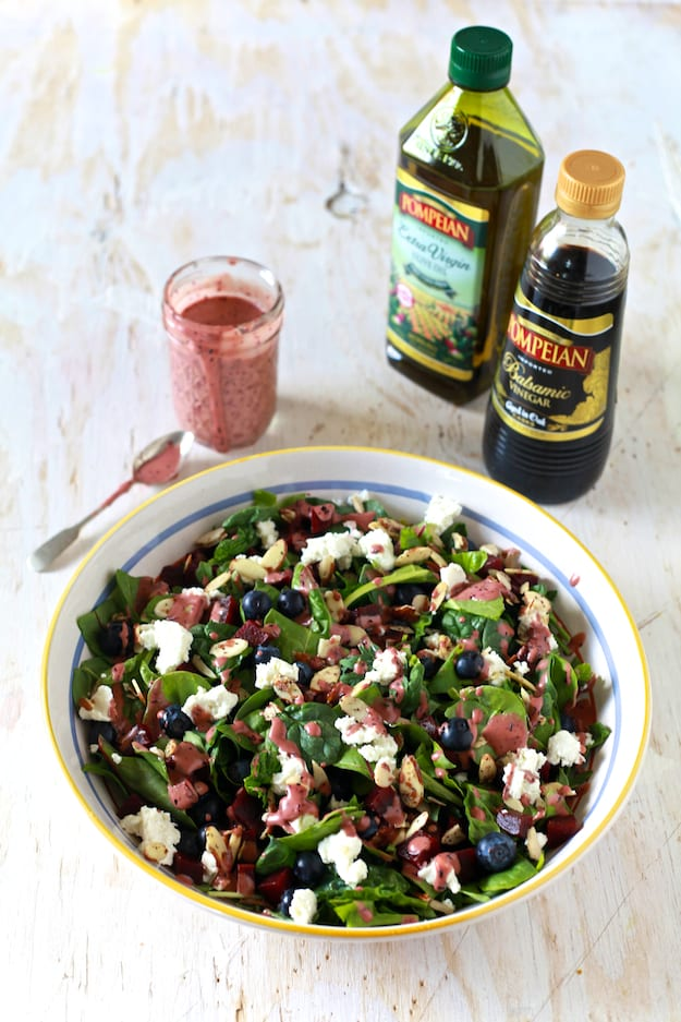 Super Salad with Blueberry Aged Balsamic Vinaigrette #dressingitup