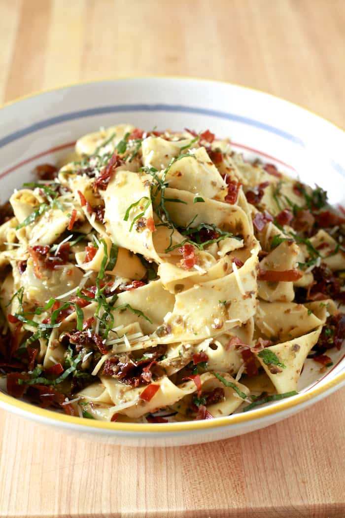 Pappardelle with Black Olive Tapenade 10