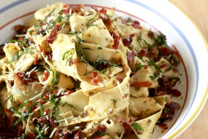 Pappardelle with Black Olive Tapenade