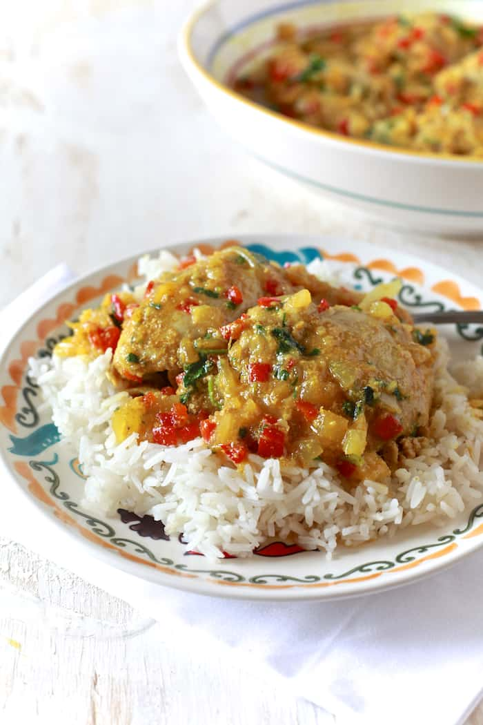 Pineapple Coconut Curry Chicken - TheNoshery.com