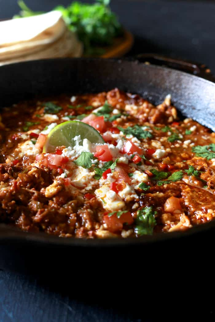Queso Fundido with Chorizo a la Tequila - TheNoshery.com