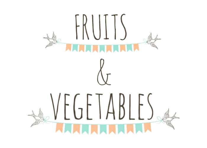 fruits & veg