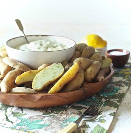 Fingerling Potatoes with Lemon Dill Aioli