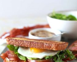 Fancy BLT with Balsamic Mayo | TheNoshery.com