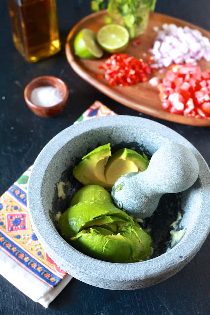 How to season a grant mortar and pestle & guacamole - TheNoshery.com