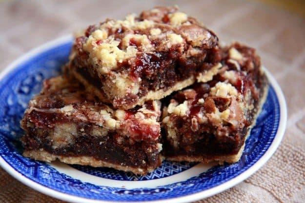 Raspberry Crumb Brownies