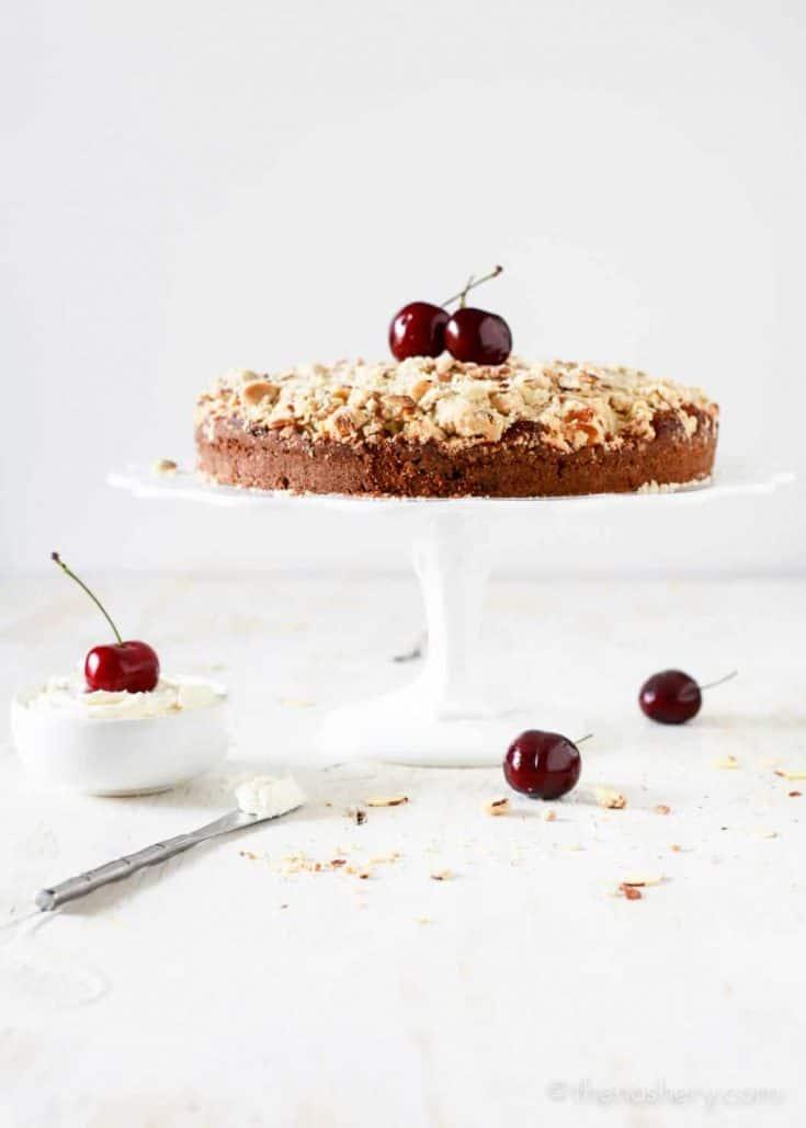 Cherry Almond Buttermilk Coffee Cake