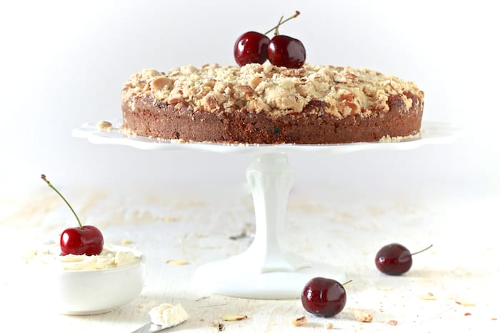 Cherry Almond Buttermilk Coffee Cake - The Noshery