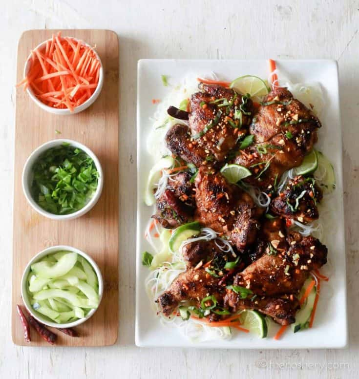 Vermicelli Noodles and Five Spice Chicken