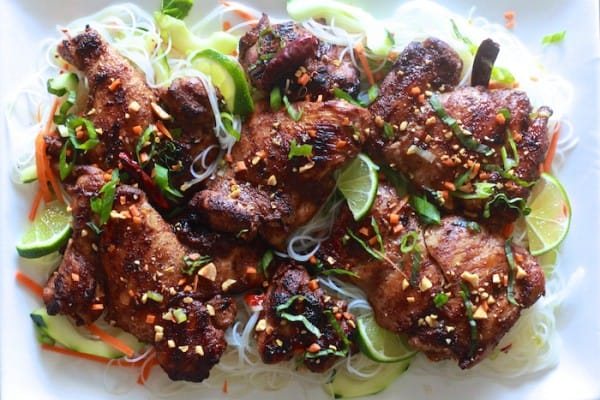 Five Spice Chicken with Vermicelli Noodle Salad - TheNoshery.com