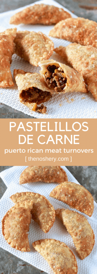 Pastelillos de Carne (Puerto Rican Meat Turnovers) with Homemade Pastelillo Dough Recipe | The Noshery
