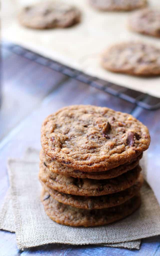 roasted-almond-chocolate-chip-cacao-nib-cookies-with-smoked-sea-salt