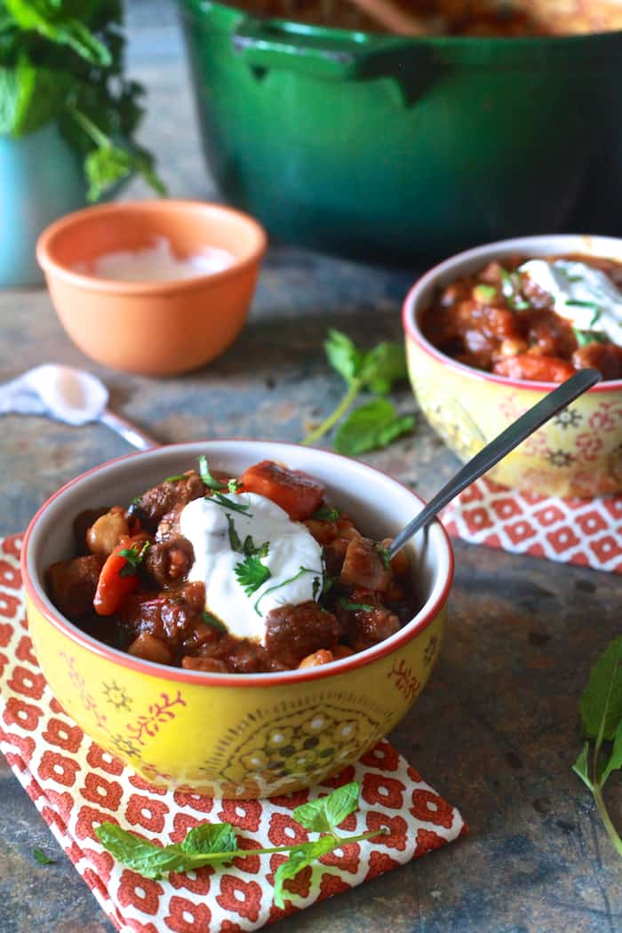 Lamb and Harissa Stew - TheNoshery.com
