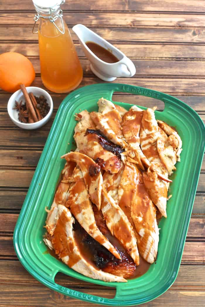 Apple Cider Glazed Turkey Breast | TheNoshery.com