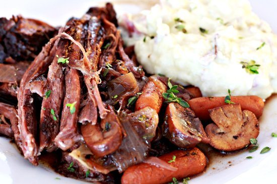 Mushroom & Blueberry Balsamic Pot Roast
