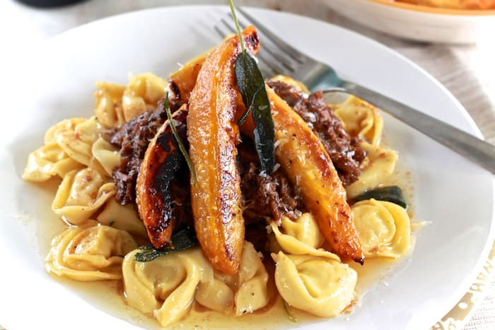 ... with Roasted Acorn Squash & Brown Butter Tortellini - The Noshery