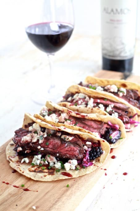 Fall Spiced Skirt Steak Tacos with Blackberry and Pear Slaw 32