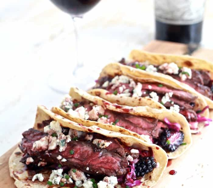 Fall Spiced Skirt Steak Tacos with Blackberry and Pear ...