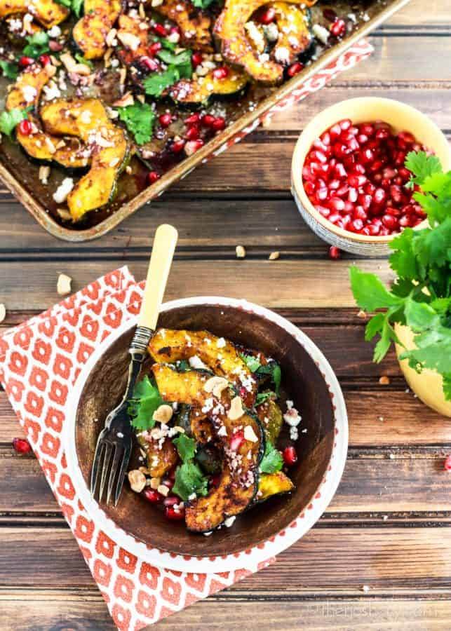 Roasted Hot Madras Acorn Squash | TheNoshery.com