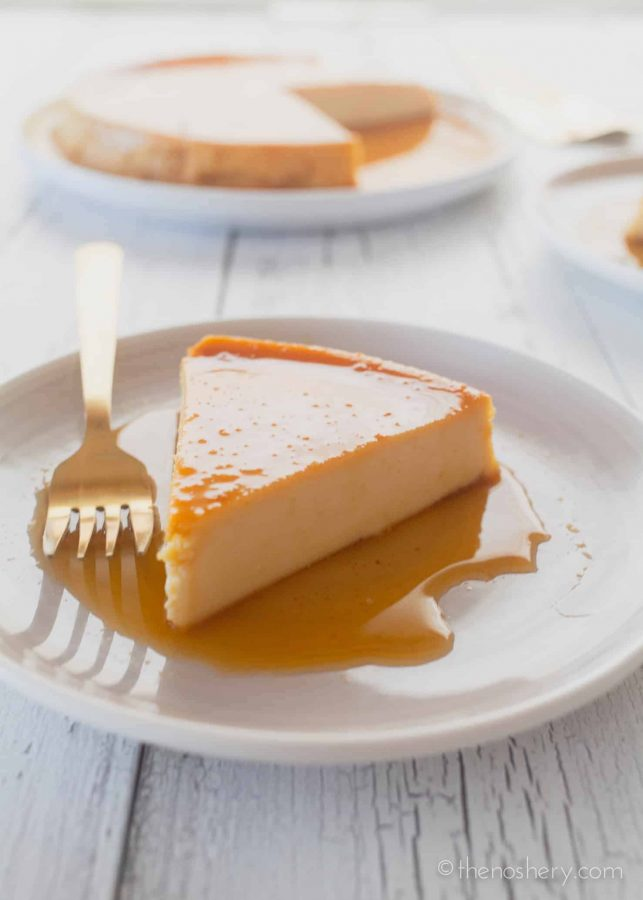 Cheese Flan (Flan de Queso) | The Noshery