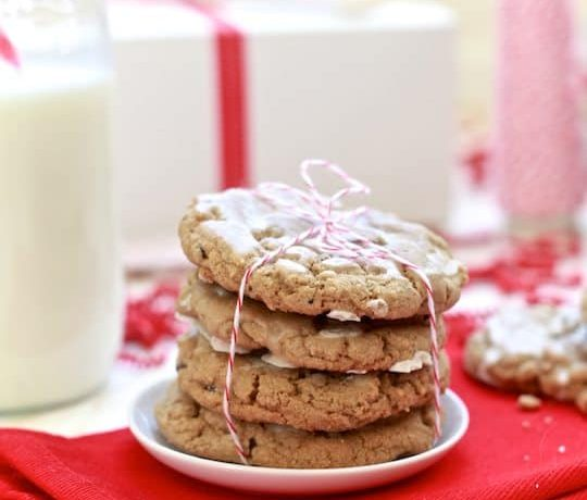 Chewy Gingersnap and Chocolate Chip Cookies with Spiced Rum Glaze