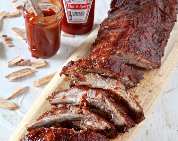 Hot & Spicy BBQ Oven Smoked Ribs
