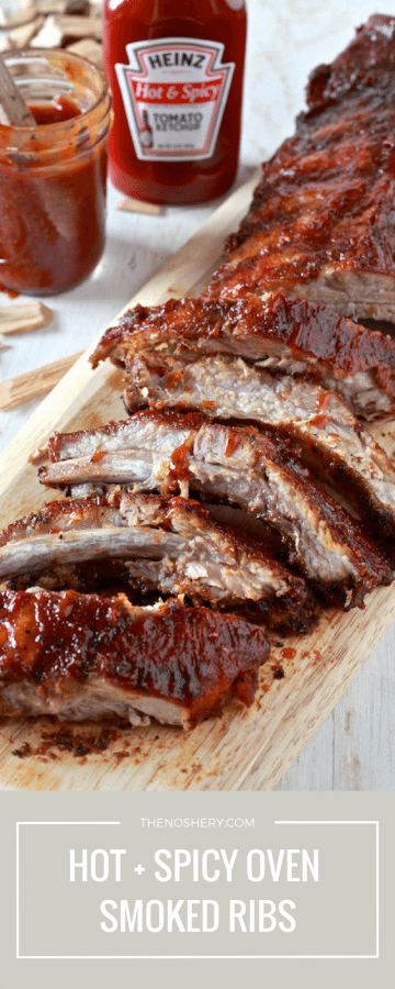 Hot & Spicy BBQ Oven Smoked Ribs | TheNoshery.com