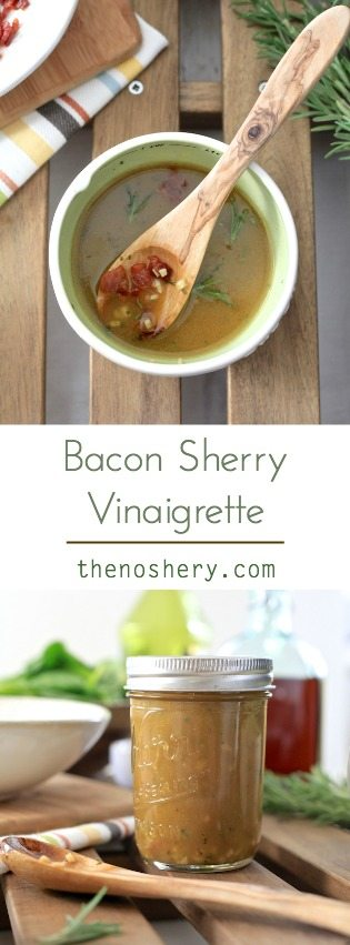 Bacon Sherry Vinaigrette | TheNoshery.com - @TheNoshery