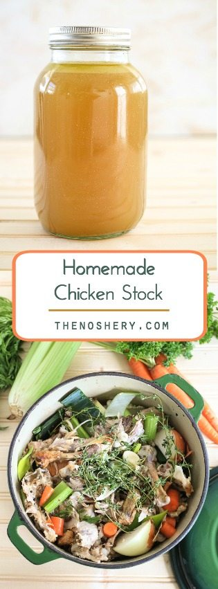 Homemade Chicken Stock | TheNoshery.com - @TheNoshery