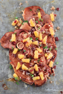 Easter Ham Steaks with Pineapple Chutney