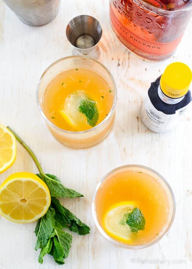 Whiskey Smash - Citrus + Mint Whiskey Cocktail | The Noshery