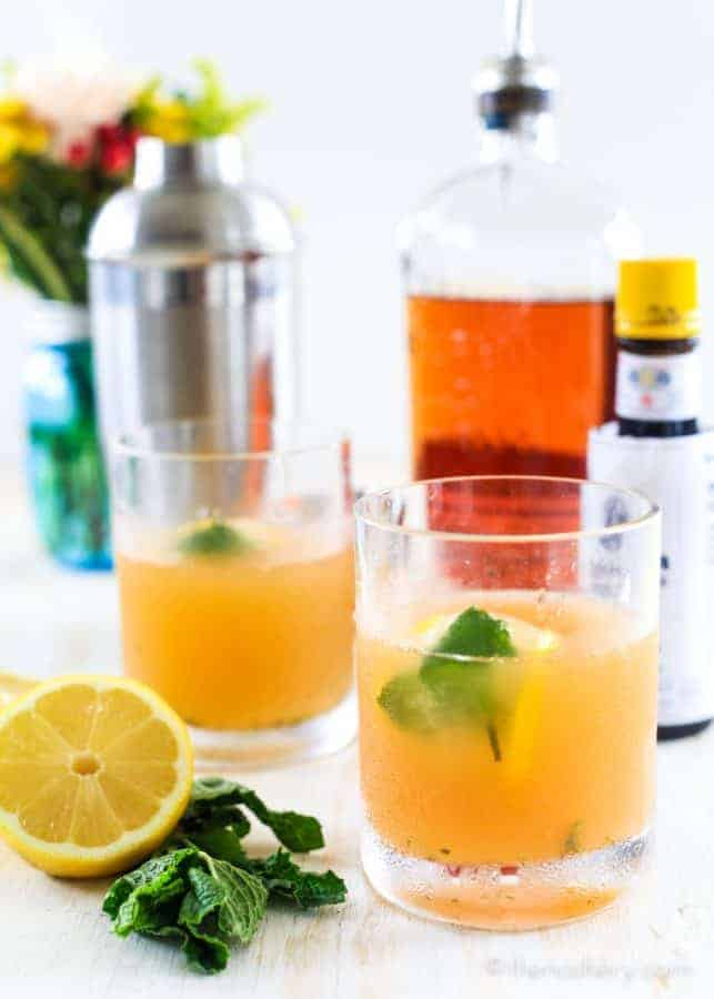 Whiskey Smash - Citrus + Mint Whiskey Cocktail | The Noshery