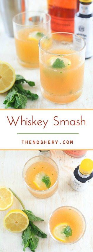 Whiskey Smash | TheNoshery.com - @TheNoshery