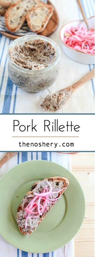 Pork Rillette | Easy pork pate | TheNoshery.com - @TheNoshery