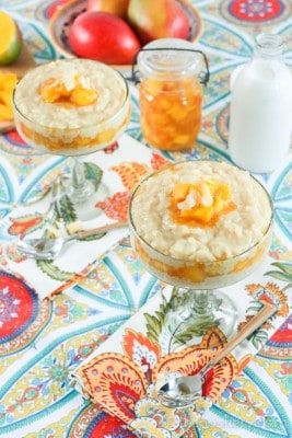 Chipotle Mango and Coconut Rice Pudding