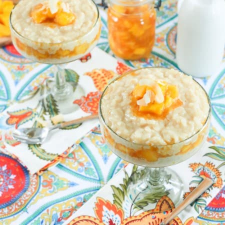 Chipotle Mango and Coconut Rice Pudding | TheNoshery.com #TabascoTastemakers