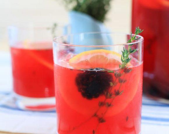 Blackberry Thyme and Vanilla Lemonade