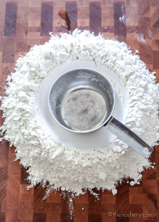 Homemade Pasta | Mound of flour with well in the center. | The Noshery