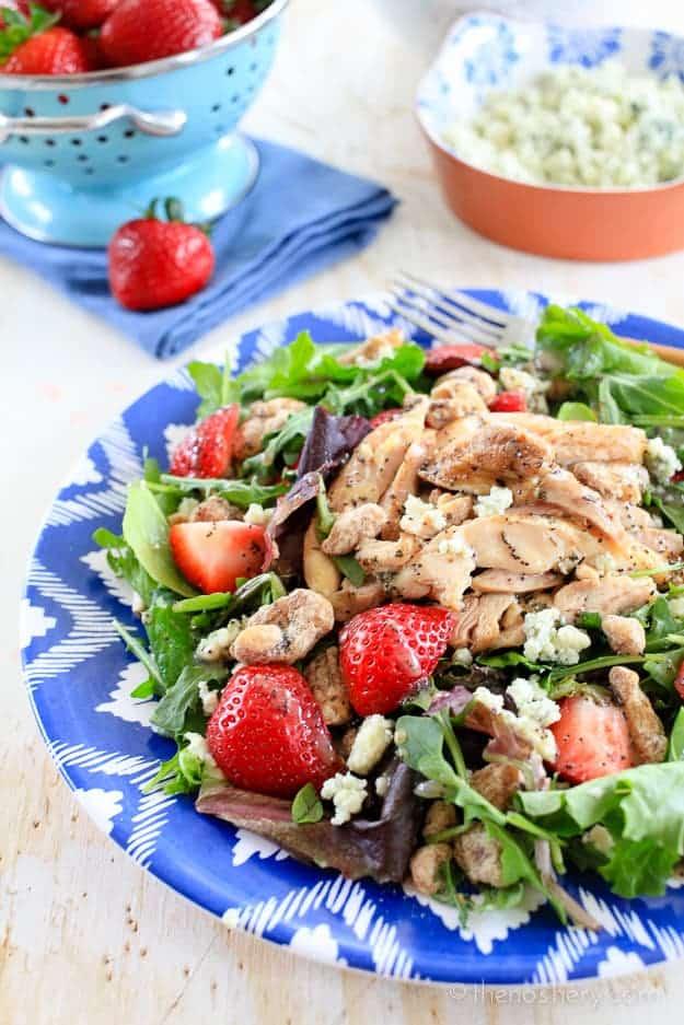 Summer Salad with Grilled Chicken   TheNoshery.com - @thenoshery