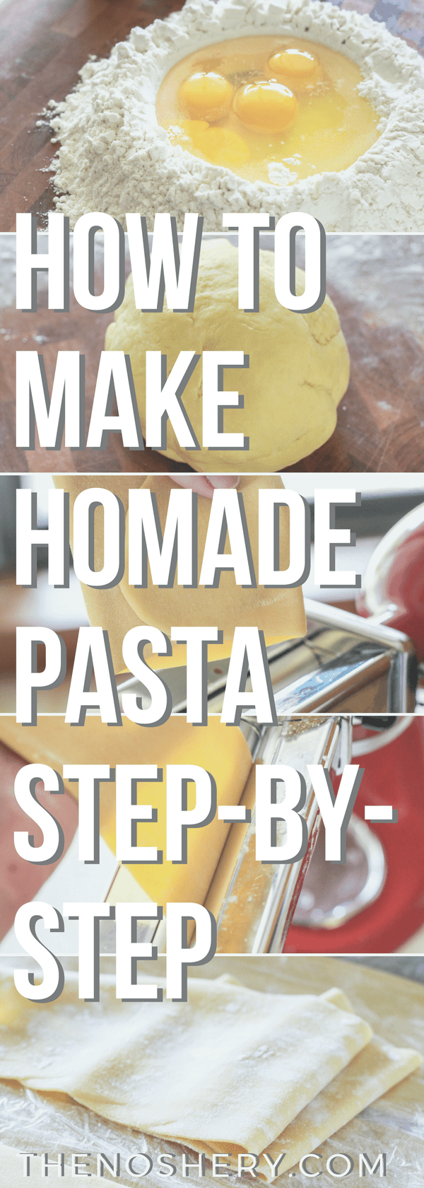 How to Make Homemade Pasta | Fresh pasta is a real treat! An easy fresh pasta recipe that is prepared at home with step-by-step instructions and make-ahead tips | The Noshery