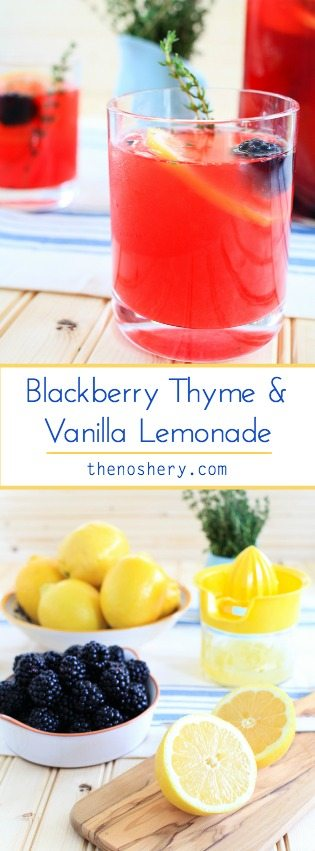 Blackberry Thyme and Vanilla Lemonade