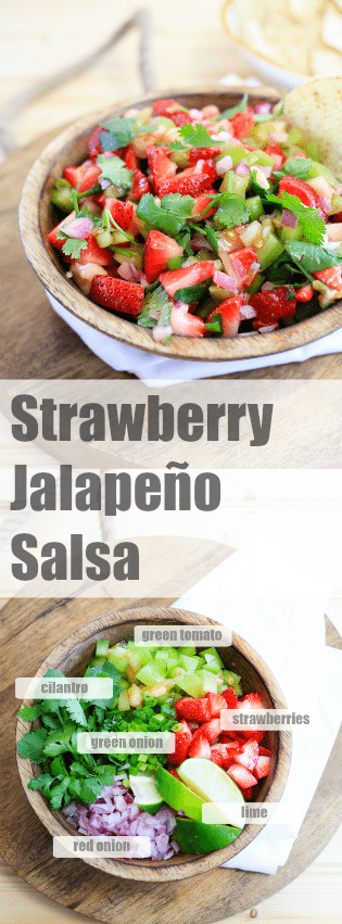 Strawberry Jalapaño Salsa | TheNoshery.com - @Thenoshery | #TabascoTastemakers