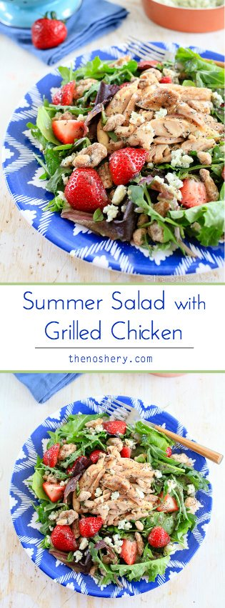 Summer Salad with Grilled Chicken | TheNoshery.com - @thenoshery